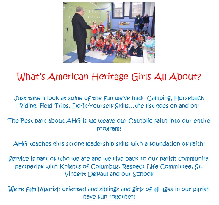 American Heritage Girls - Monsignor / About